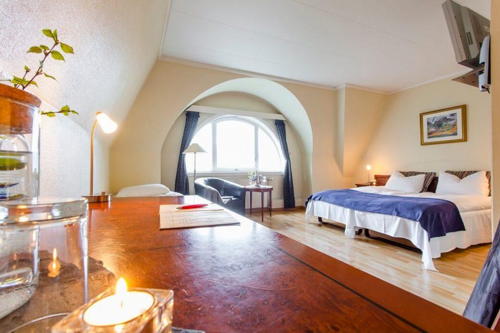 Trippel rom med fjordutsikt
